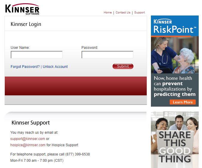 kinnser.net login
