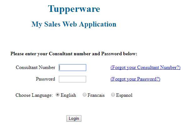 tupperware login