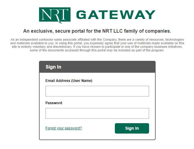 nrt gateway login